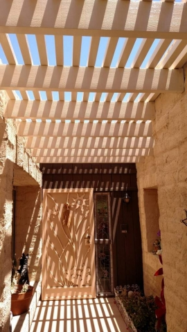 Entrance Way Pergola Cover Tucson AZ