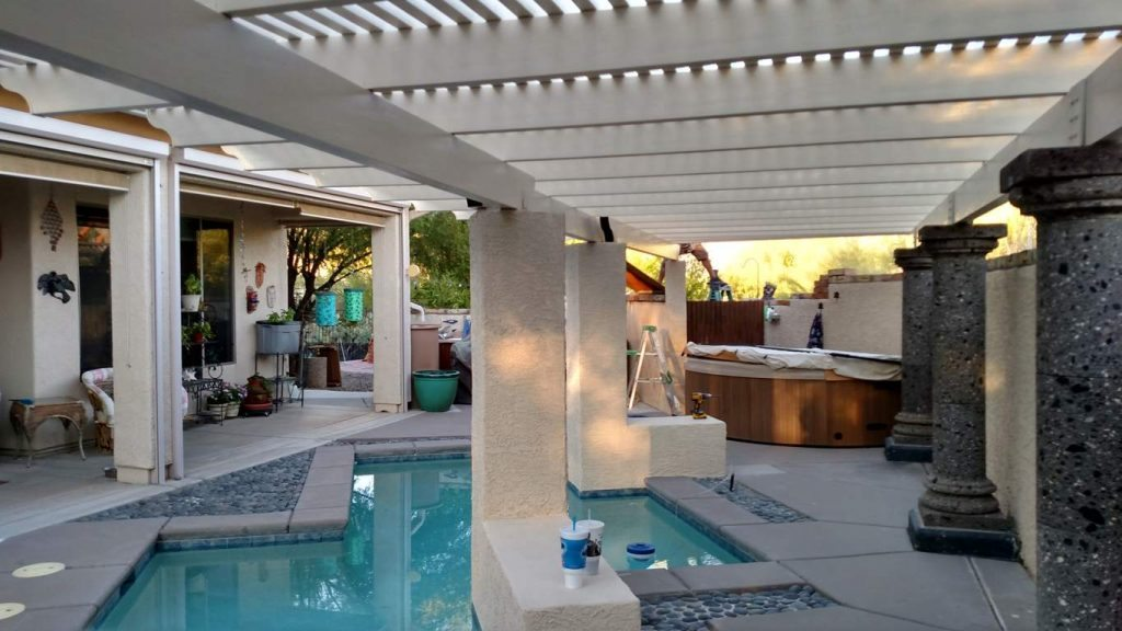 Tucson Pergola over Pool, Tucson AZ