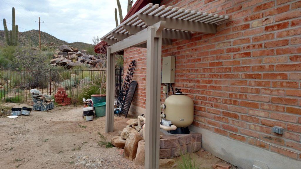 Lattice Cover over Pool Pump Tucson AZ