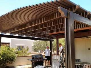 Pergola on a Patio Tucson AZ