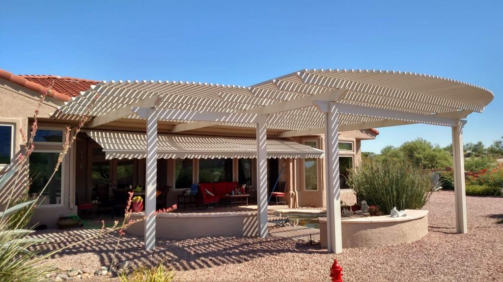 Large Pergola over a Patio Tucson AZ